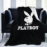 Play Boy Ultra Soft Micro Fleece Blanket Anti-Pilling Travel Blanket Warm Bed Blanket Wearable Fleece Blanket Bedding for Sofa,Bed,Cinema   50'X40'