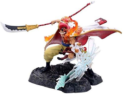 Yooped One Piece Portrait of Pirates: Whitebeard VS Akainu Sakazuki Figura PVC (War On Top) Estatua Barba Modelo furioso Figurita Acción Acción Colección