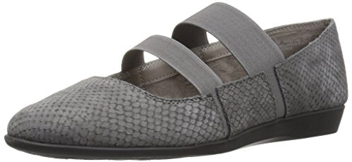 Aerosoles Women's Trend LAB Mary Jane Flat, Grey Snake, 6.5 M US