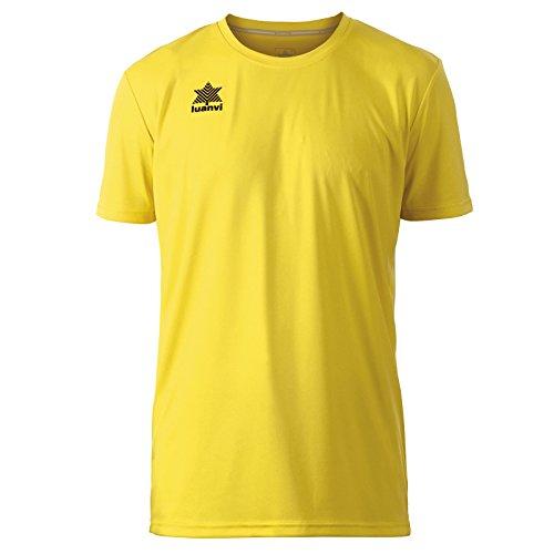 Luanvi Pol Camiseta de Deportes Manga Corta, Hombre, Amarillo, XL