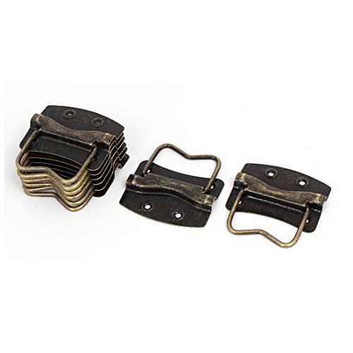 //® Extractor caja plegable de acero inoxidable para puerta de armario tirador tiradores 2pcs Sourcingmap/