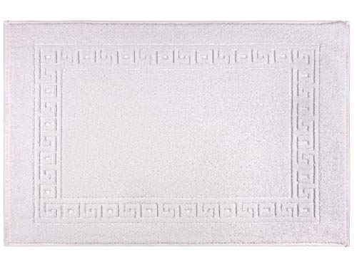 REVITEX - Alfombra de baño Lola - Rizo 100% algodón - Blanca - 50x80 cm