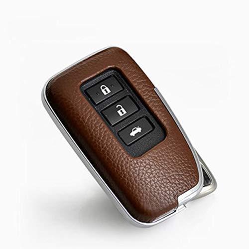 JGFDVBBNM Autoschlüssel Geeignet für Gilt für Lexus RX200t is CT GS NX200 ES250 ES300 Steuerauto ABS-Schlüsseloberteil-Zubehör Autoschutztasche Schlüsselbund, Braun