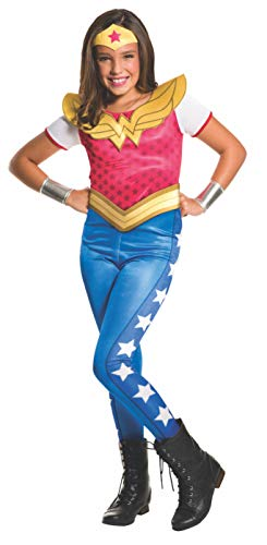 Rubie's Super Hero Girl Costume Wonder Woman per Bambini, Stoffa, Multicolore, Large (8-10 anni) IT620743-L