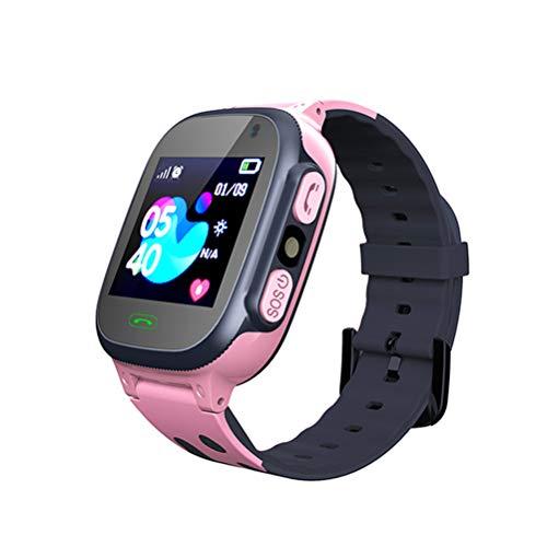 Mgsiko Kinder Smartwatch-Smartwatches Telefon- Kind Uhr Telefon unterstützt LBS Präzise Positionierung Tracker, mit SOS, Videoanruf, Voice Chat, Anruf, Geschenke für Jungen Mädchen (Rosa)