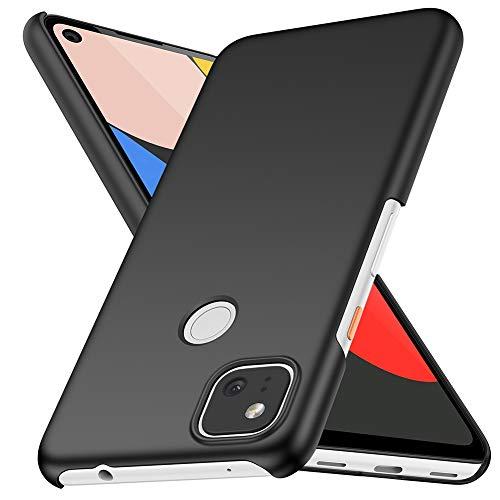 best thin cases for google pixel 4a 5g 2021 ORNARTO Case for Pixel 4a,Thin Premium Hard Plastic Matte Finish Anti-Scratch Cover Cases for Google Pixel 4a(2020) 5.81'Black