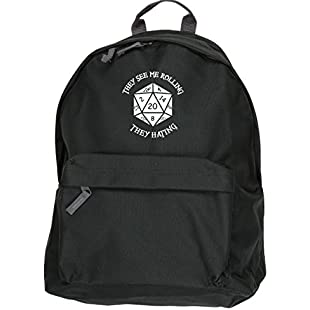 HippoWarehouse They See Me Rolling They Hating backpack ruck sack Dimensions 31 x 42 x 21 cm Capacity 18 litres:Abra-sua-mei