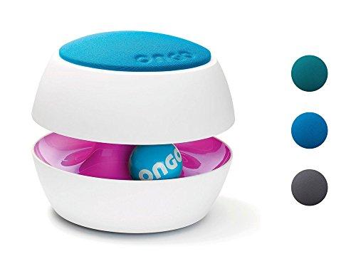 ONGO Kit Kinderhocker in drei verschiedenen Farben purpur hellblau ergonomisch mitwachsend Sitzhocker Kinderstuhl Gestrick