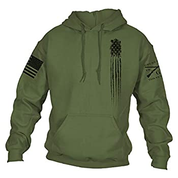 Grunt Style Beast Flag Hoodie  Military Green,Medium