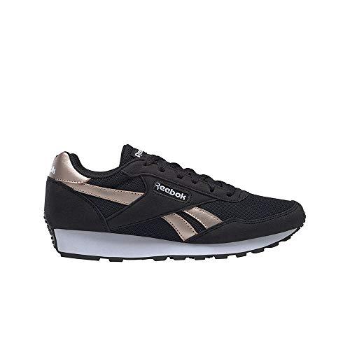 Reebok Rewind Run, Zapatillas de Running Mujer, Negro/ROSGOL/Blanco, 38.5 EU