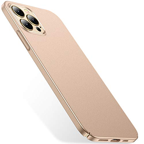 CASEKOO Slim Fit Compatible with iPhone 12 Case, Designed for iPhone 12 Pro Case 6.1 inch 5G (2020), [Ultra Thin] Hard PC Matte Finish Grip Protective Phone Cover - Gold