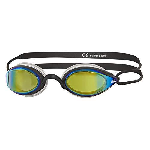 Zoggs Gafas de natación, Adultos Unisex, Negro/Espejo, una una talla