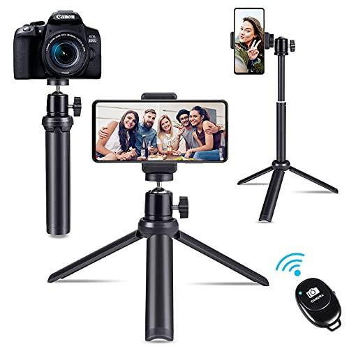 Diealles Shine Bastone Selfie Treppiede,Selfie Stick Treppiede Bluetooth Estensibile Rotazione di 360°con Telecomando Wireless e Borsa con Coulisse per iPhone Samsung Galaxy Huawei