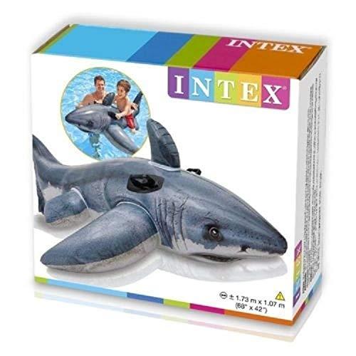 Floats & Rafts Shark Gran tiburón Blanco Inflable Ride On mandíbulas Piscina Playa Lago Flotador Juguete