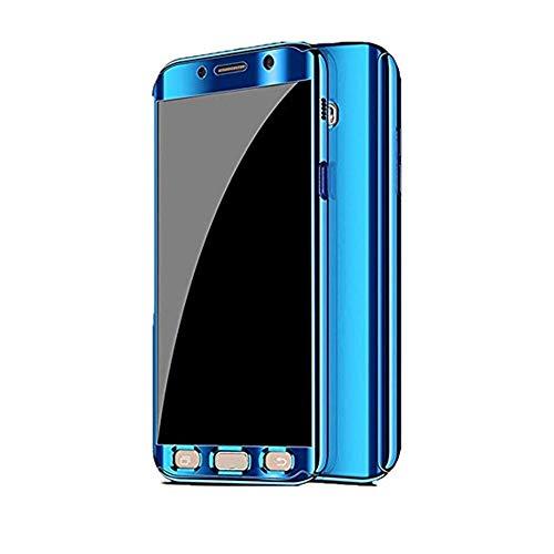 Kompatibel mit Samsung Galaxy S7 Hülle, Samsung Galaxy S7 Edge Hüllen 3 in 1 Ultra Dünner PC Harte Case 360 Grad Ganzkörper Spiegel Schutzhülle für Galaxy S7/S7 Edge (Samsung Galaxy S7 Edge, Blau)