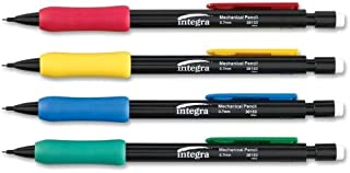 Integra Grip Mechanical Pencil - 0.7 mm Lead Size - Black Lead - Assorted Barrel - 12 / Dozen