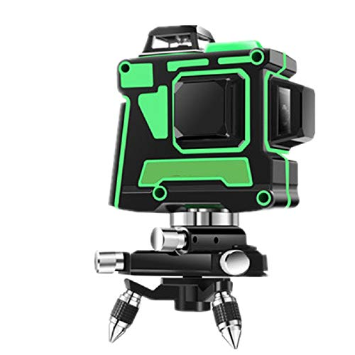 Dudumao Nivel láser verde 3D 12 líneas, 360 líneas cruzadas horizontales y verticales autoalineadas Línea láser verde, nivel láser multinivel autonivelante A