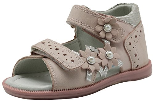 Apakowa Summer Kids Toddler Girls Open Toe Orthopedic Leather Sandals with Arch Support (Color : Pink, Size : 6 M US Toddler)