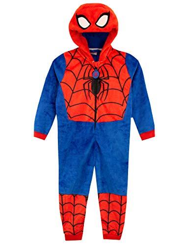 Marvel Pigiami Interi a Maniche Lunghe per Ragazzi Spiderman Blu 7-8 Anni