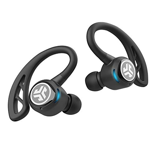 JLab Epic Air Elite Negro - True Wireless In-Ear-Auriculares (38 Horas Akkulaufzeit, micrófono, Touch Control)