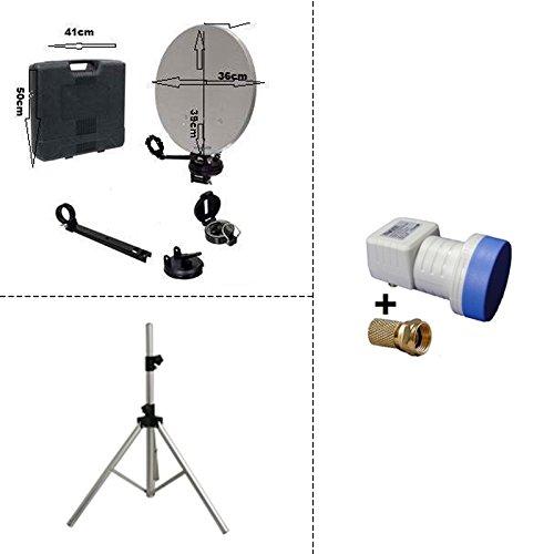 HD-LINE - Trípode Plegable para Antena parabólica (Ideal para cámping, lnb DE...