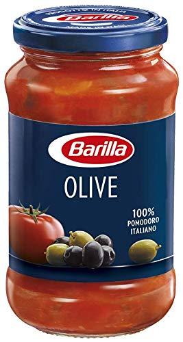 Barilla Sugo Pronto di Pomodoro 100% Italiano con Olive Nere, Olive Verdi e Olio Extravergine d'Oliva, 400 g