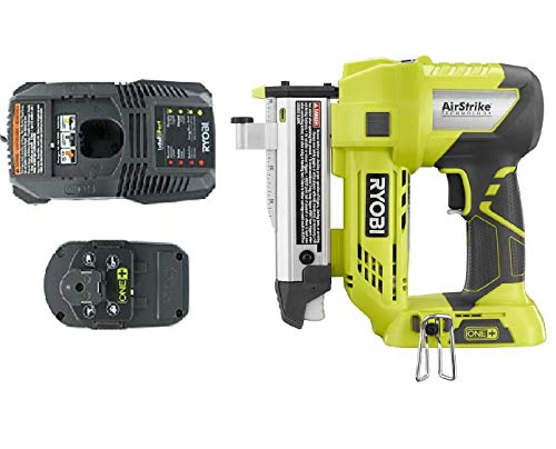 Ryobi One+ Plus 18 Volt Air Strike 23 Gauge 1-3/8in Cordless Headless Pin Nailer P318, Battery and Charger Combo Kit (Bulk Packaged) (Renewed)