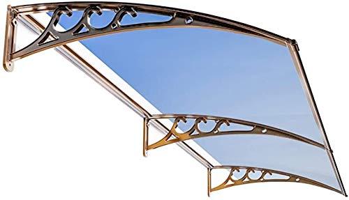 Regendicht deurmarkies Luifels Deur Luifel Luifel, Door Luifel Luifel, blauw Transparant Door Entry Luifel deurmarkies Dakterras zonnescherm (Size : 60×240cm)
