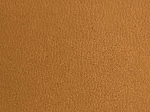 Polipiel para tapizar, realizar manualidades decorar, muebles, cojines, coches, sillas, sofás, bolsos. Tela Ecopiel. Cuero Sintético. 140 cm de ancho (400 cm, Camel)