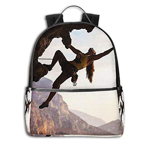 Zaino Scuola Casual, Uomo Donne Rucksack Zaino per Borsa da Viaggio per Scuola Ragazze Ragazzo Zaini Scuola Superiore Elementare Libertà dello sport di montagna dello scalatore