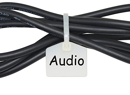 Mr-label 110 mm nylon kabelbinder labels marker - schrijven op | zelfborgend - met vrij bedrukbare etiketten - voor het markeren en organiseren van kabels wit