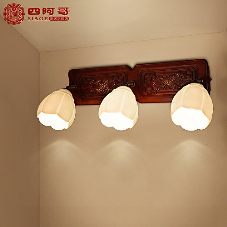 StiefelU LED Wandleuchte nach oben und unten Wandleuchten Holz Keramik Glas front light Wandleuchte Wohnzimmer Schlafzimmer Flur, Scheinwerfer
