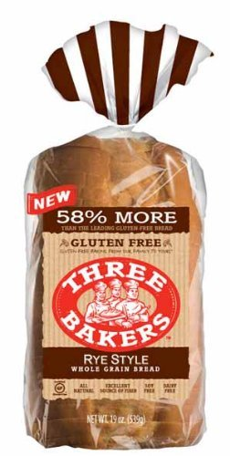 Three Bakers Gluten Free Rye Style Bread (Pack of 6)