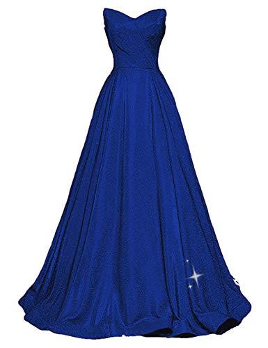 ShipXO SP38 - Vestidos de fiesta para mujer, sin tirantes, Azul Royal, 14