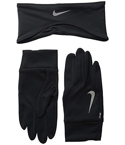 Nike Dri-Fit Gant(s) and Bandeau Course à Pied Set - L