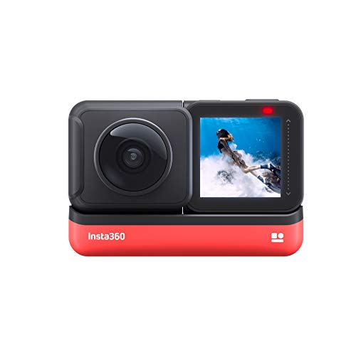 Insta360 ONE R 360 Degree Action Camera 5.7K Dual Lens Sports Video Adaptive Stabilization Waterproof Voice Control (360 Edition)