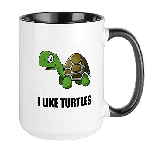 N\A Ich mag Turtles Tassen Kaffeetasse, große 11 Unzen weiße Kaffeetasse