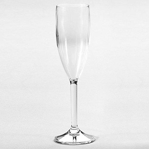 Siehe Beschreibung Polycarbonat Sektglas Bellini klar, 150 ml, 2 Stück • Camping 2x150 ml Wasserglas Trinkglas Kunststoff bruchfest