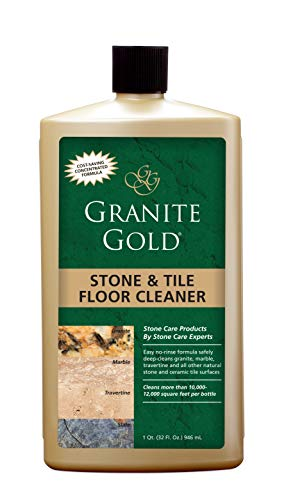 Granite Gold Stone And Tile Floor Cleaner - No-Rinse Deep Cleaning Granite, Marble, Travertine, Ceramic Solution - 32 Ounces