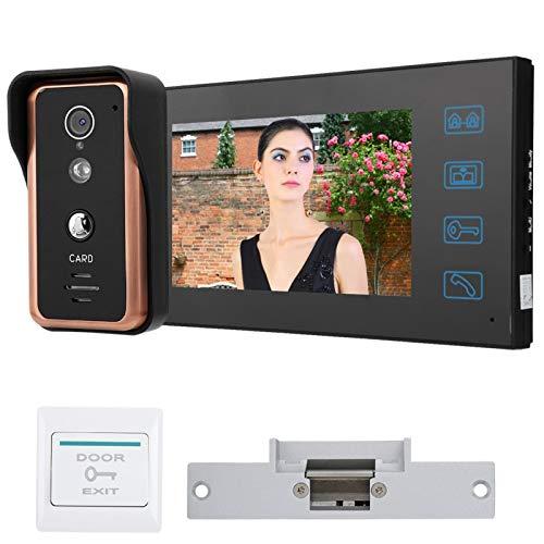 Videoportero Control de Puerta de Acceso de Amplia aplicación Robusto(American Standard (100-240v))