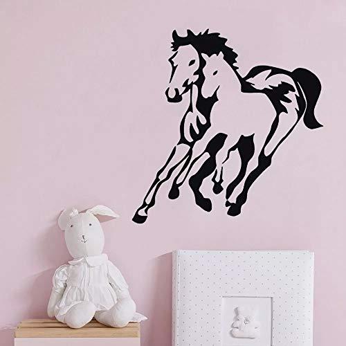 WERWN Horses running on the wall creative art wall sticker decoration