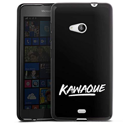 DeinDesign Silikon Hülle kompatibel mit Microsoft Lumia 535 Dual SIM Hülle schwarz Handyhülle Motorrad Kawaque YouTube
