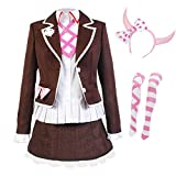 DMBJFun Danganronpa Costume Utsugi Kotoko Dress Cosplay Costume School Uniform Halloween Anime Suit with Accessories Pink