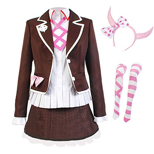 Updayday Danganronpa Utsugi Kotoko Cosplay Kostüm High School Uniformrock Halloween Anzüge einschließlich Mantel + Hemd + Kurzer Rock + Strümpfe + Kopfbedeckungen + Accessoires