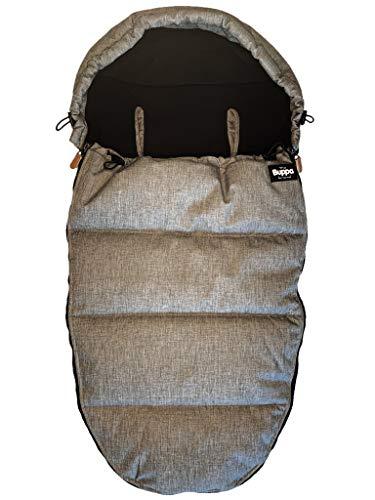 The Buppa Brand Winterfußsack für Kinderwagen, Grey Melange