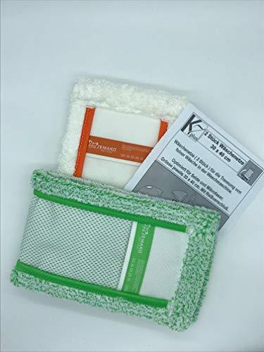 Jemako, Bodentuch, Doppelpack,grün und weiss, kurze Faser 42cm, 2 Stück K7plus® Wäschenetz/Wäschesack