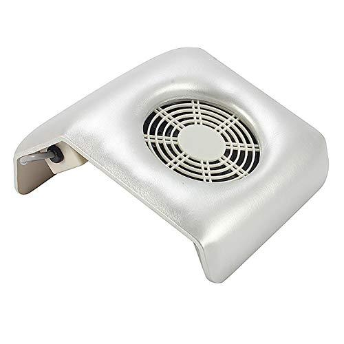 Aspirateur Manucure Outil de nettoyage des ongles avec aspirateur en cuir 110v / 240v,silver