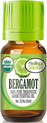 Organic Bergamot Essential Oil (100% Pure - USDA Certified Organic) Best Therapeutic Grade Essential Oil - 10ml