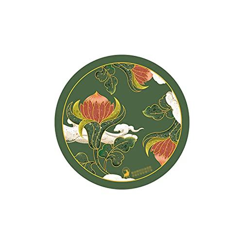 Posavasos Estilo chino Retro aislamiento de calor Coaster 4 pulgadas Absorbente de agua Cerámica Costera de té de 2 piezas, exquisito Coster de restaurante redondo Drinks Coasters ( Color : Green )