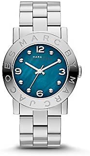 Marc by Marc Jacobs Women's Teal Dial Stainless Steel Band Watch - MBM3272